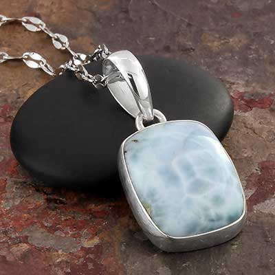 Larimar and Silver Necklace