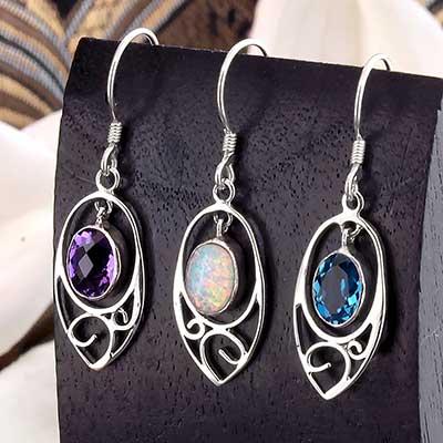 Silver Dew Drop Earrings