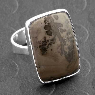 Silver and Volcanic Cottam Ring