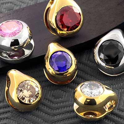 Brass Knuckle Weights with Gems