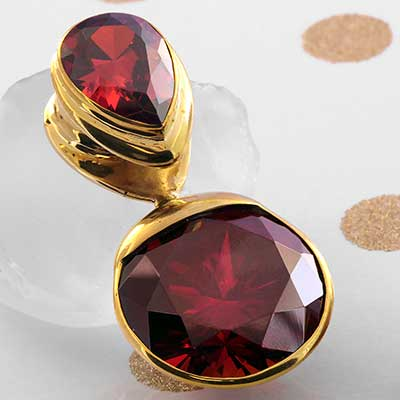 Solid Brass Fused Saddle Weights with Red CZ