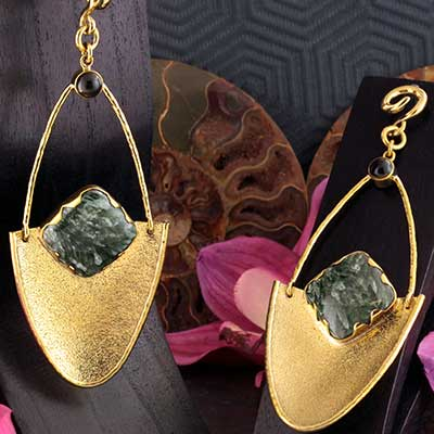 Solid Brass Jaws Weights with Seraphinite