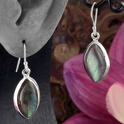 Silver and Labradorite Earrings
