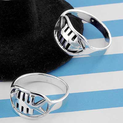 Silver Fish Bone Ring