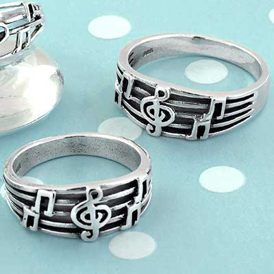 Silver Music Ring