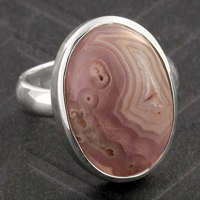 Silver and Aqua Nevada Jasper Ring