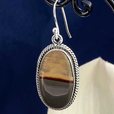Silver and Wildhorse Jasper Earrings