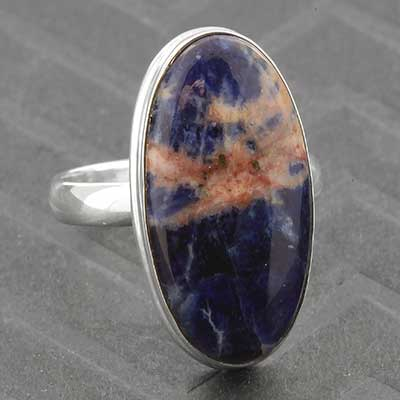 Silver and Sodalite Ring