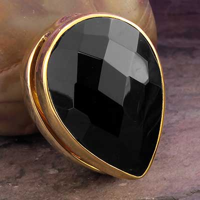 Solid Brass Spade Weights with Black Onyx