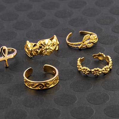 Gold Plated Toe Ring Designs