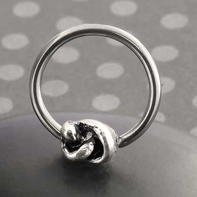 Knotted Bead Ring