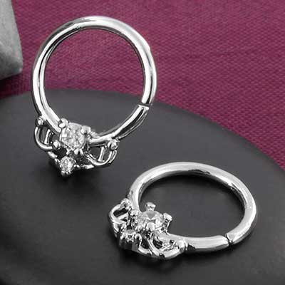 Steel Royal Jewel Seamless Ring