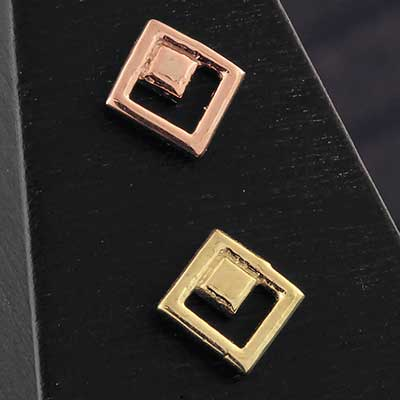 Solid 14k Gold Square Threadless End