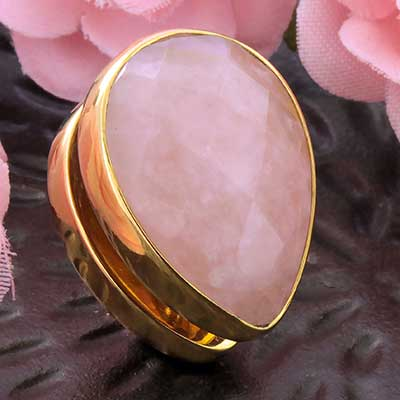 Solid Brass Spade Weights with Rose Quartz
