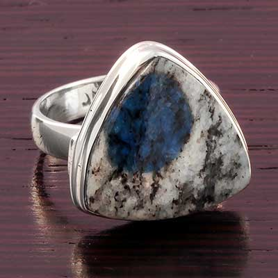 Silver and K2 Jasper Ring