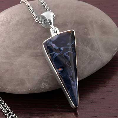 Pietersite and Silver Necklace