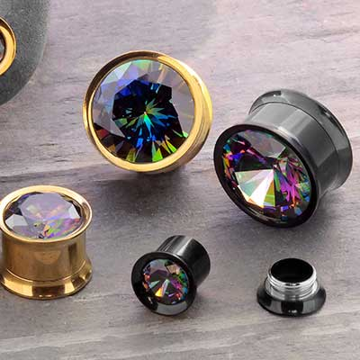 Floating Mystic CZ Plugs