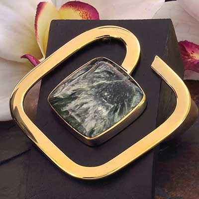 Solid Brass Square Weights with Seraphinite
