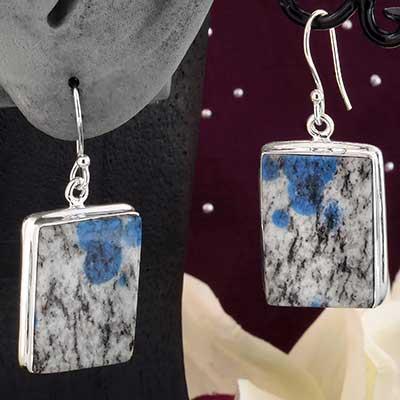 Silver and K2 Jasper Earrings