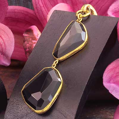 Solid Brass and Rainbow Obsidian Weights