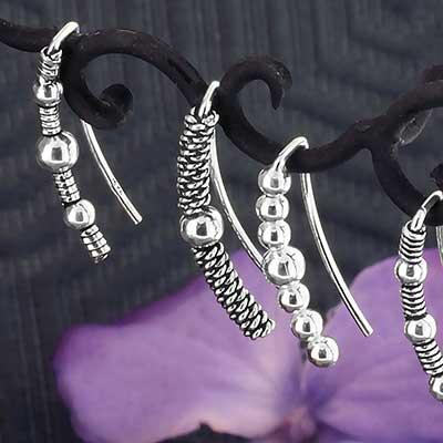 Silver Ear Crawler Earrings