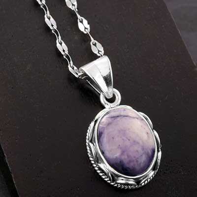 Tiffany Stone and Silver Necklace