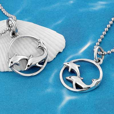 Silver Dolphins Necklace