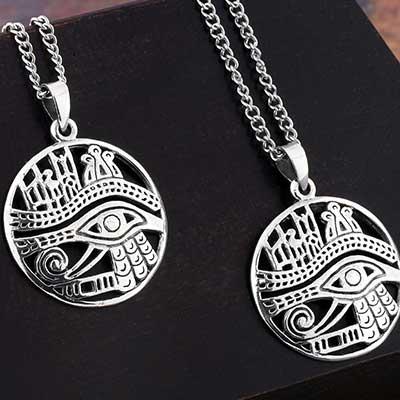 Silver Eye of Horus Necklace