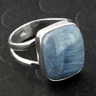 Silver and Blue Opal Ring