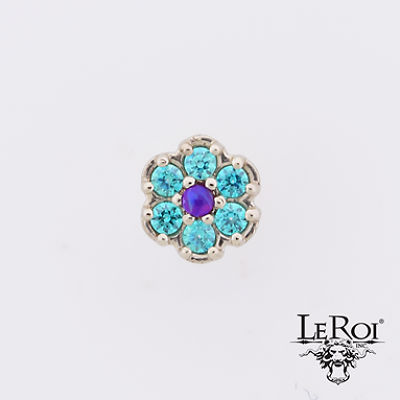 PRE-ORDER 14k Rounded Flower  End