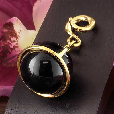 Solid Brass and Black Onyx Globe Weights