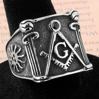 Free Mason Steel Ring