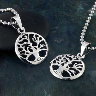 Silver Tree Silhouette Necklace