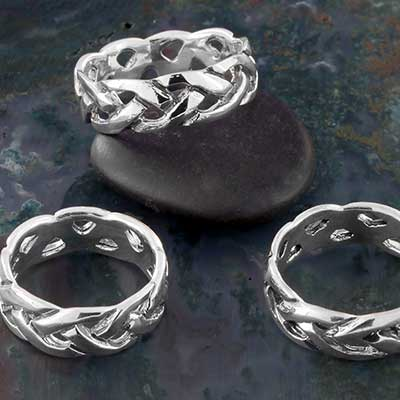 Silver Braided Band Ring