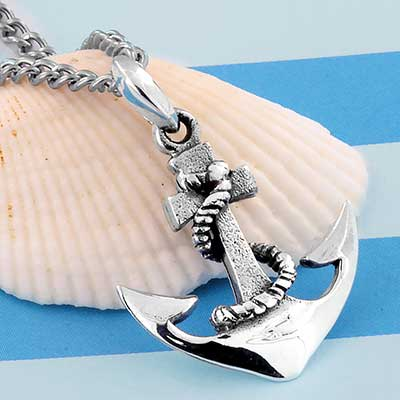 Silver Anchor Necklace