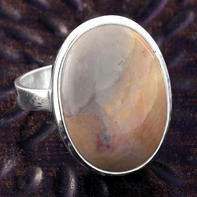 Silver and Willow Creek Jasper Ring