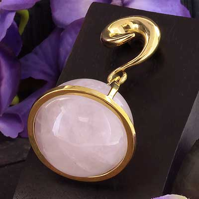 Solid Brass and Rose Quartz Globe Weights