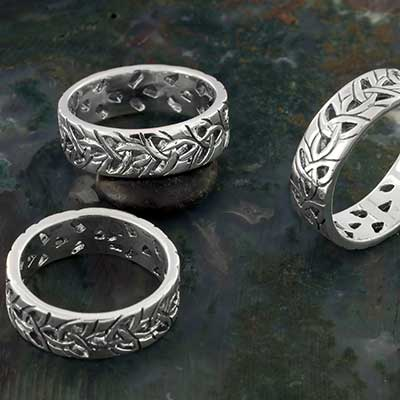Silver Triquetra Band Ring