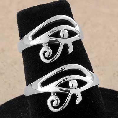 Silver Eye of Horus Ring