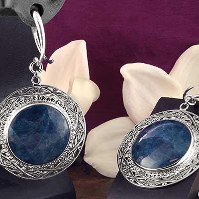 Sterling Silver and Apatite Medallion Weights