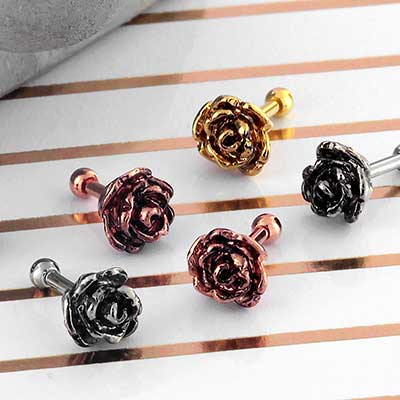 Rose Flower Barbell