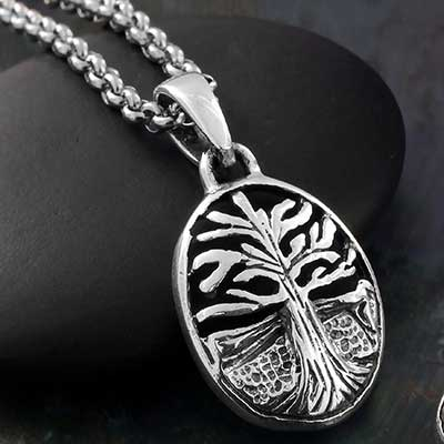 Silver Scenic Tree Necklace