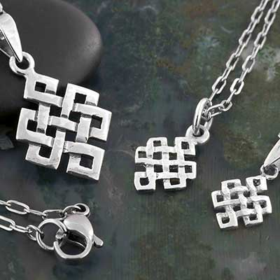 Silver Celtic Eternity Knot Necklace