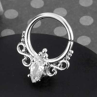 Steel Regal CZ Seamless Ring