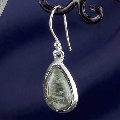 Silver and Seraphinite Earrings