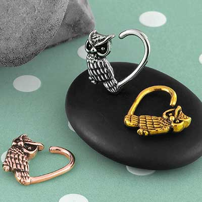 Heart Owl Seamless Ring