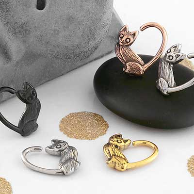 Heart Cat Seamless Ring