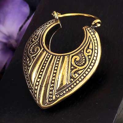 Brass Adornment Earrings