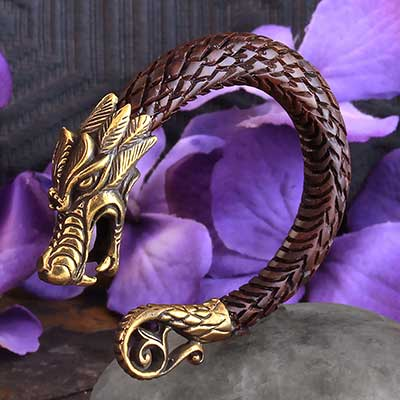 Brass and Arang Wood Dragon Weights