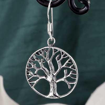 Silver Mother Tree Earrings